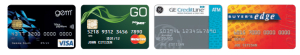 GE credit cards L-R