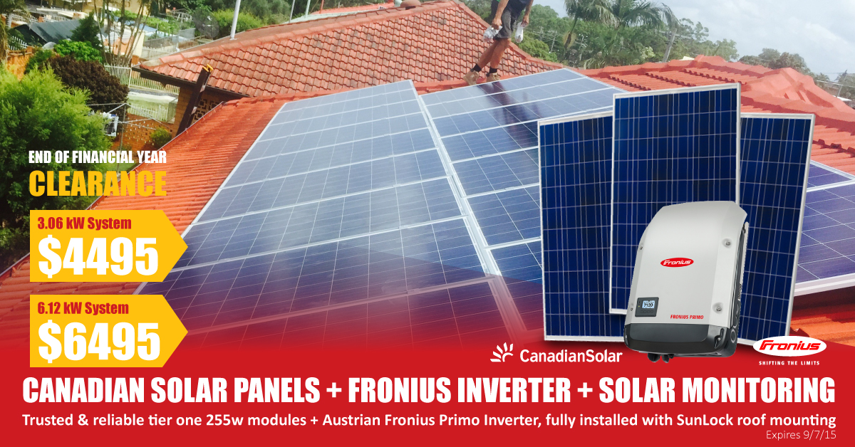 3 6kw canadian solar fronius solar special keen 2b green. Black Bedroom Furniture Sets. Home Design Ideas
