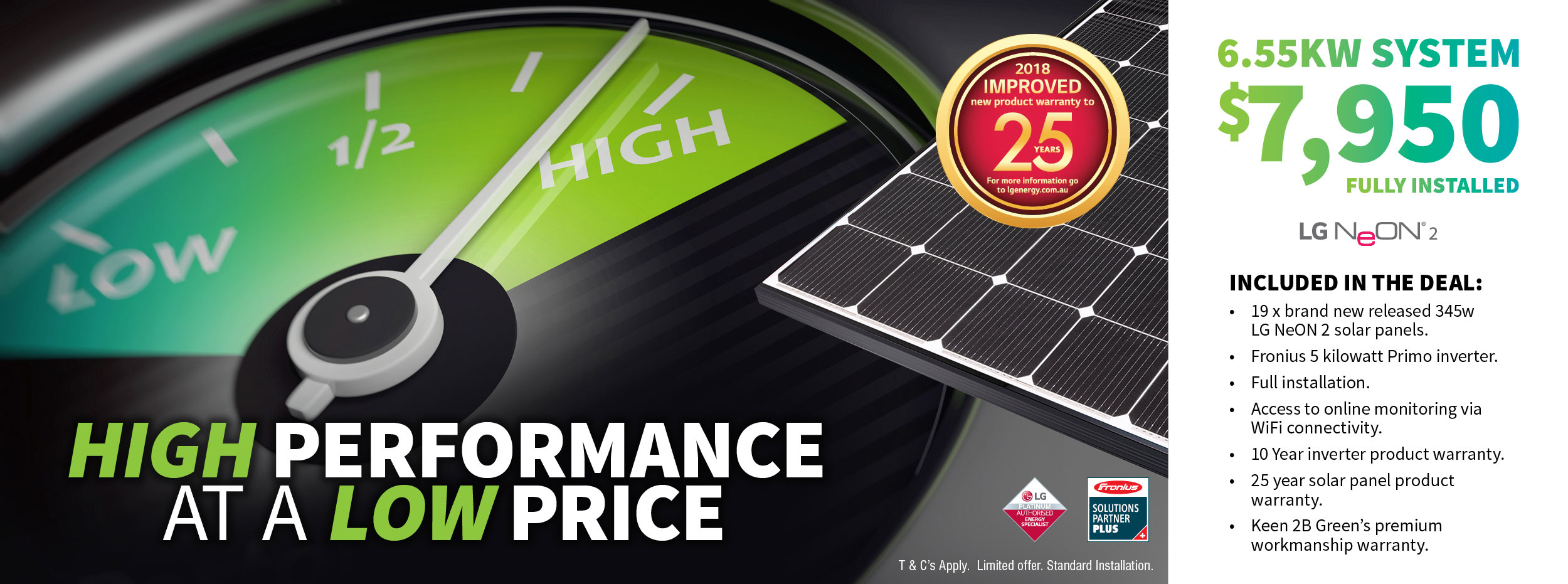 Lg High Performance Solar Panel July Special Keen 2b Green